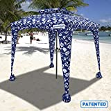 Best Beach Umbrellas - EasyGO Products Beach Umbrella & Sports Cabana, Blue Review