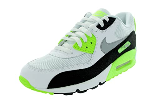 newest collection 2d39d 50816 Nike Mens Air Max 90 Essential WhiteFlash LimeBlackWolf Grey 537384