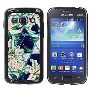 MOBMART Carcasa Funda Case Cover Armor Shell PARA Samsung Galaxy Ace 3 - Printed Leafy Green Pattern