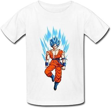 StaBe 6-16 years old tee O-Neck Dragon Ball Z Goku Kid s Niños Niñas Jóvenes T Camisas