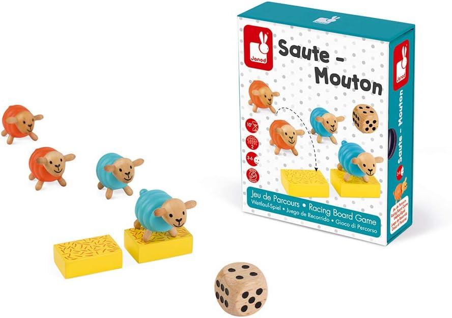 Multicolored Janod J02738 Saute-Mouton Racing Game