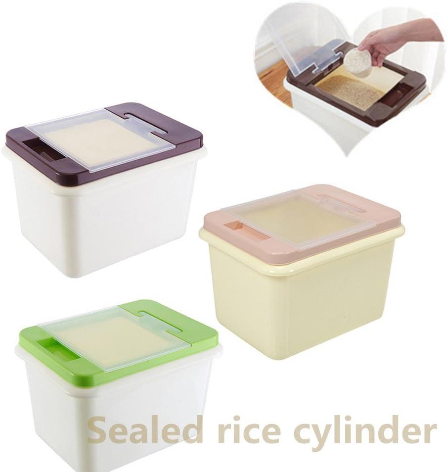 caf/é Recipiente de Almacenamiento Sellado para la Cocina Barriles de Almacenamiento a Prueba de Humedad Harina Contenedor de Almacenamiento de arroz y Especias