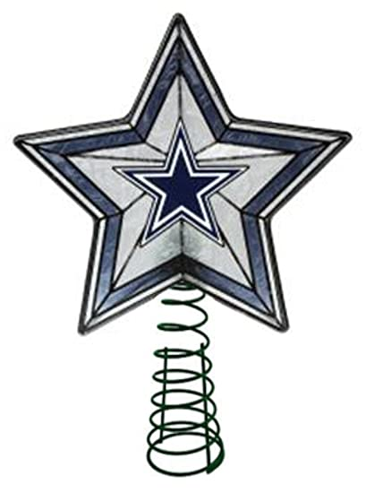 glass star treetopper dallas cowboys