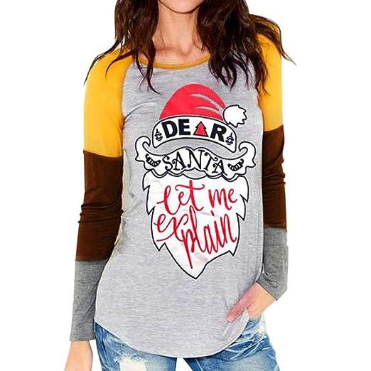 vovotrade adorable merry christmas t shirt women letter santa print long sleeve tops blouse