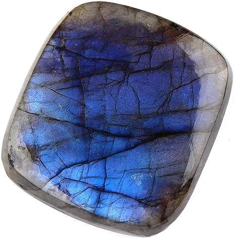 Blue Labradorite Cabochon Gemstone Labradorite Pendant Bracelet Making Cabochon Gemstones 2pcs