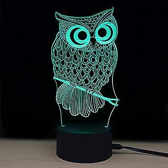 De 3d NuitFipart Lumière Lampe 7 Tactile Bureau Couleur 7vYbf6Igym