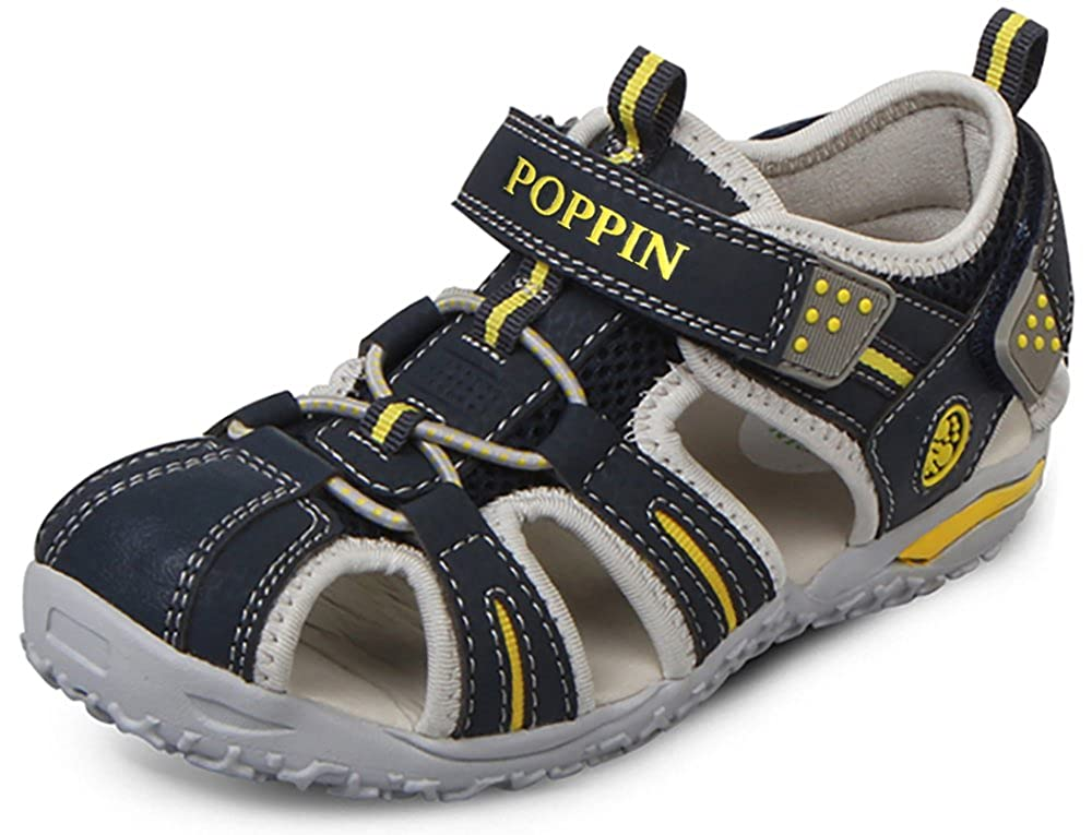 Poppin Kicks Boys' & Girls' Fisherman Closed Toe Athletic Sandals (Toddler/Little Kid/Big Kid) XKT05U