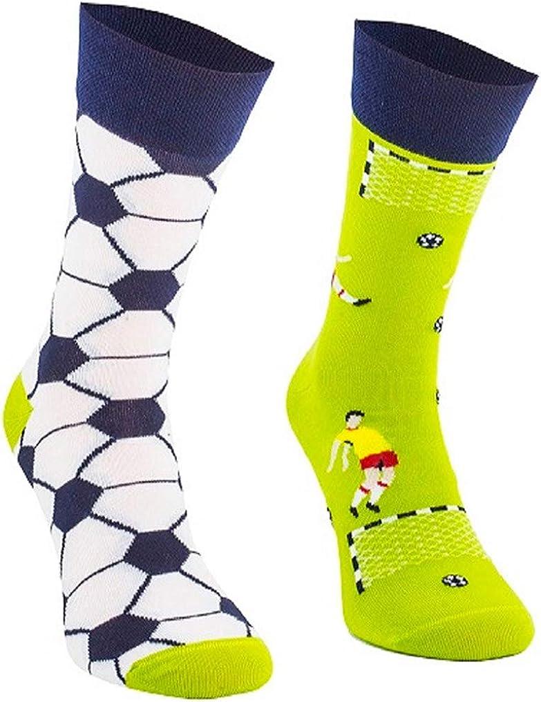 verr/ückte bunte Socken mehrfarbige TODO COLOURS Casual Mix /& Match Socken Football Time