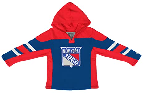reputable site 420b3 9b532 Old Time Hockey NHL New York Rangers Youth Drift Pullover Hoodie, Large,  Royal