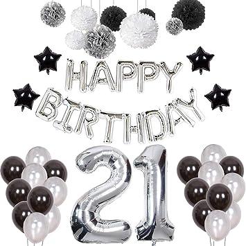 Weimi 21 Cumpleaños Decoraciones para Hombres 21 Cumpleaños ...