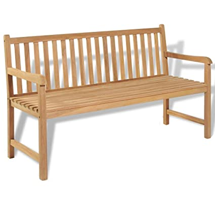 Super Amazon Com Outdoor Bench Teak Garden Furntiure Backyard Gmtry Best Dining Table And Chair Ideas Images Gmtryco
