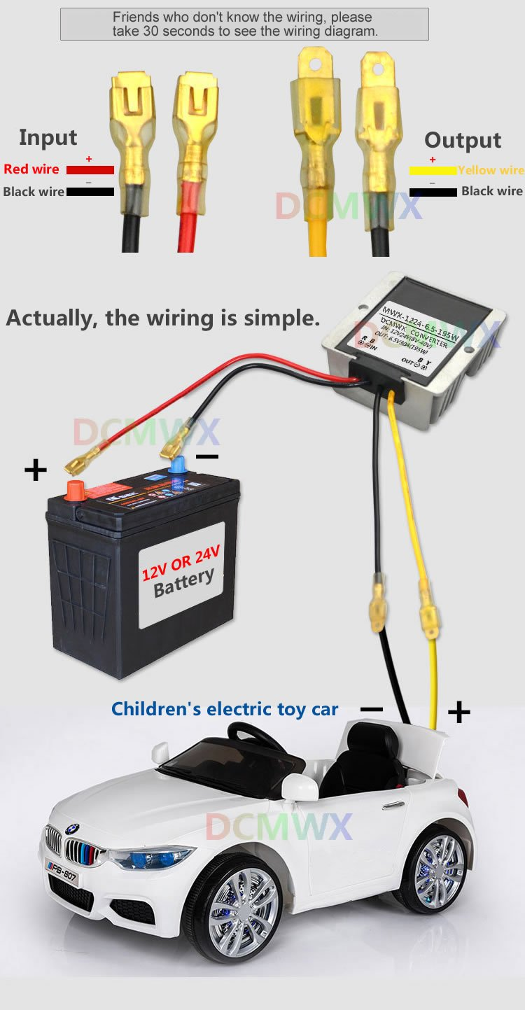 Dcmwx Buck Voltage Converters 12v24v Transform To 65v Z8 Wiring Diagram Step Down Childrens Electric Toy Car Power Inverters Modified Waterproof Adapt
