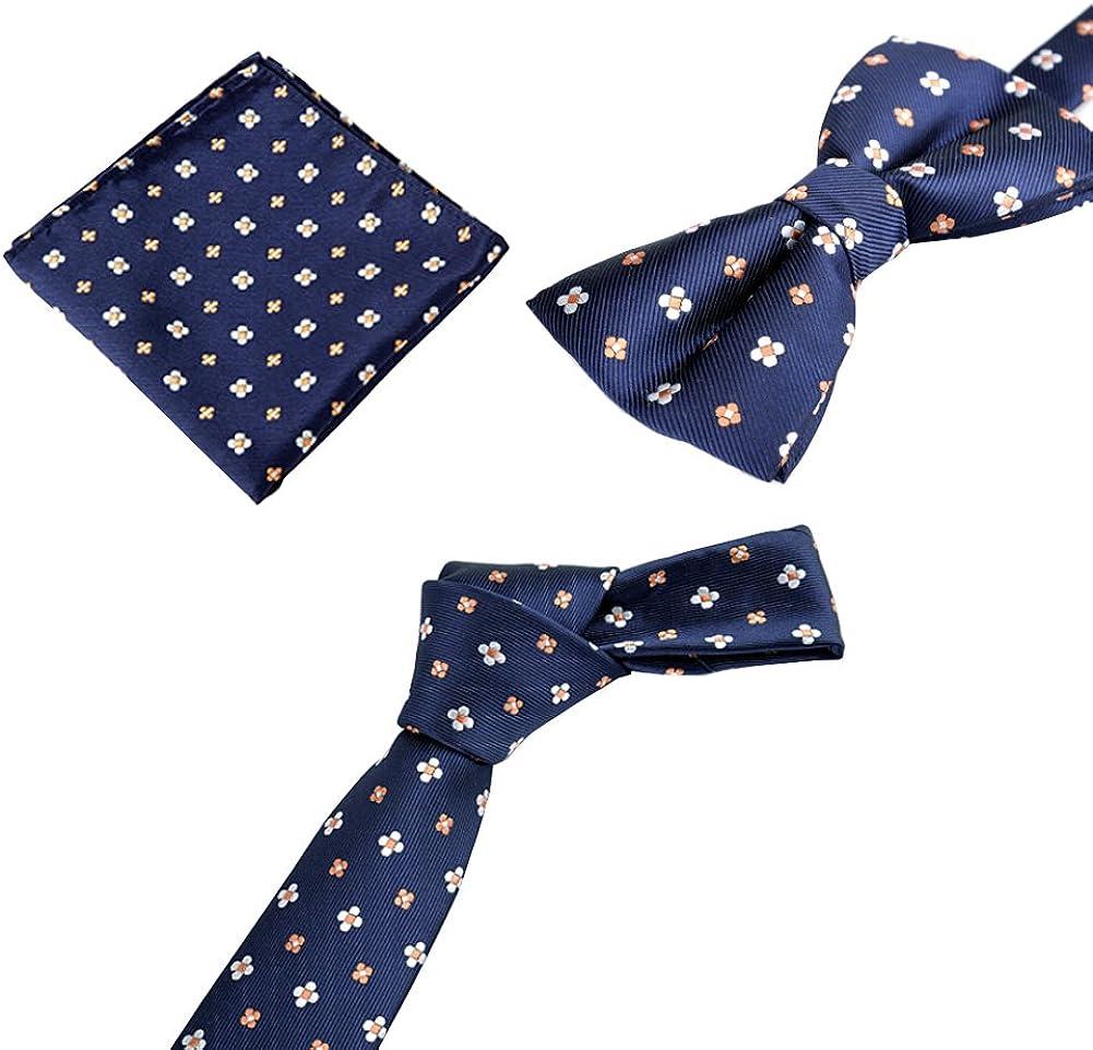 Blancho Schwarz,Modische Formal//Informelles Krawatten Set Krawatte Fliege Einstecktuch