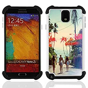 - Sex Girl on the beach - - Fulland Deluxe Hybrid TUFF Rugged Shockproof Rubber + Hard Case Cover FOR Samsung Galaxy Note 3 III N9000 N9008V N9009 Queen Pattern