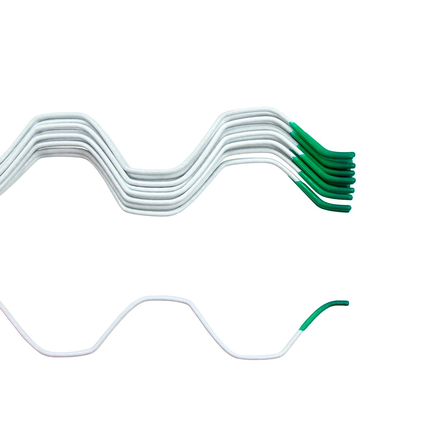 Jiggly Greenhouse Wire Only 6' 6'' Greenhouse Film PVC Coated Spring Lock for Attachment of Plastic Poly Film (20 Pack)