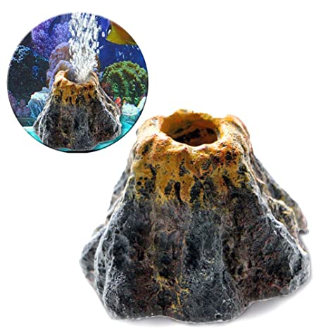 Air Stone Bubbler Volcano para Decoraciones de Acuario de Olla de Peces, Air Stone Bubbler