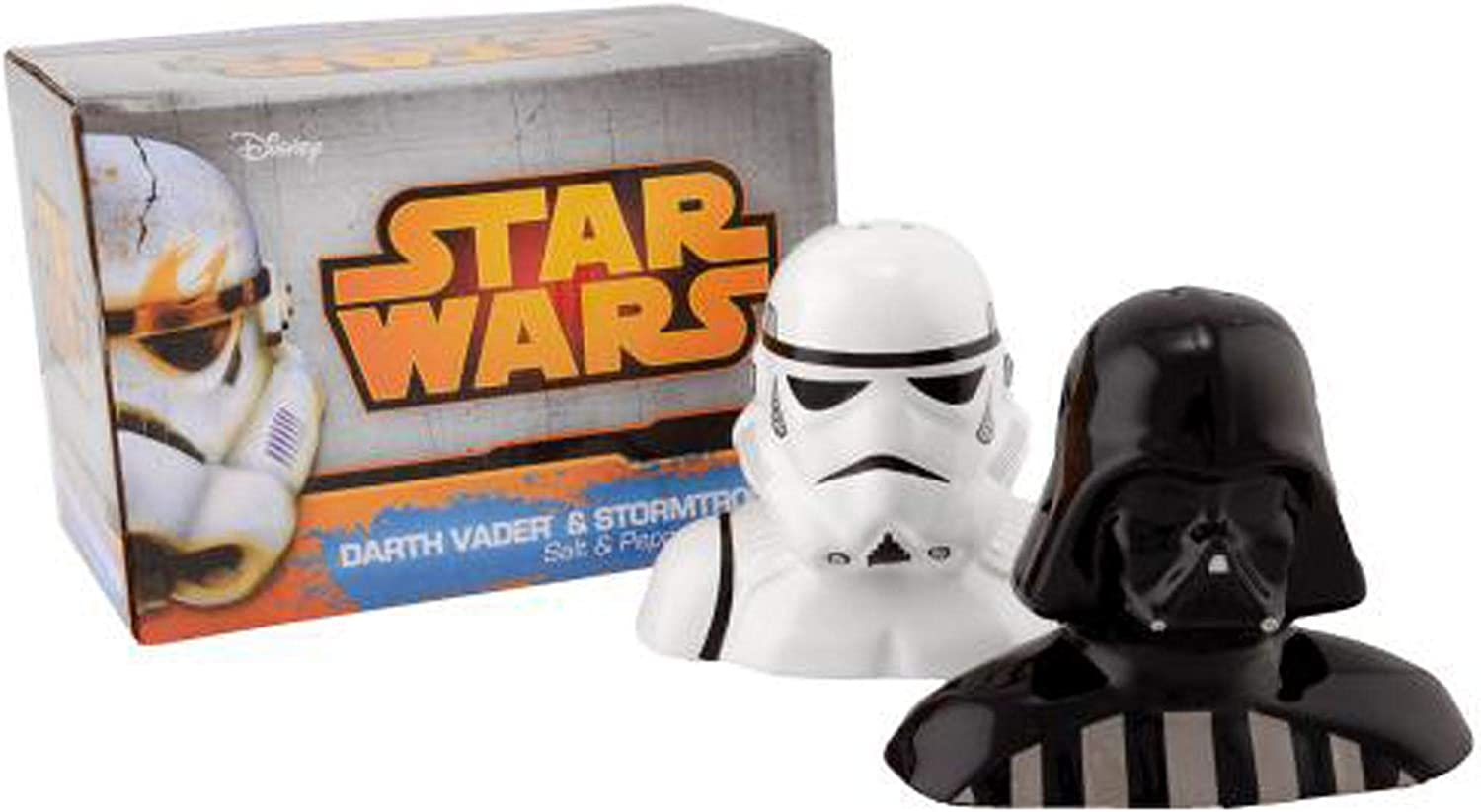 Star Wars Darth Vader and Storm Trooper Salt and Pepper Shaker Set - Movie Home and Office