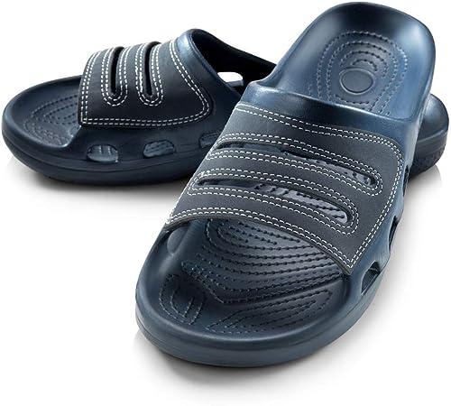 Mens Inblu GG000009 Blue Slip On Casual Slider Slide Sandals Sz Size