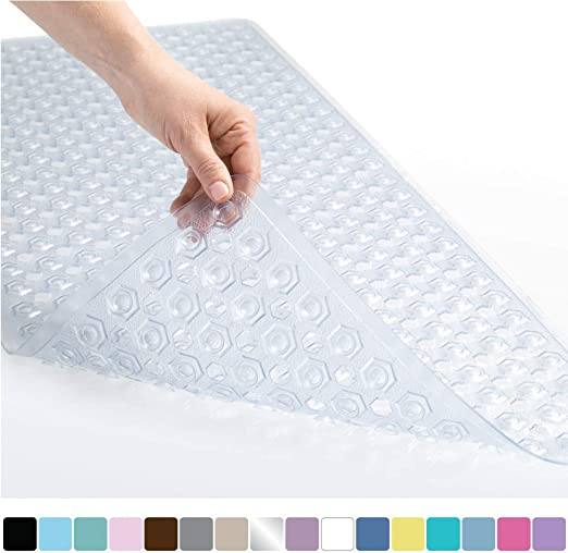2x High Quality Strong Suction Anti Non Slip Grip Bath Shower Washable Mat