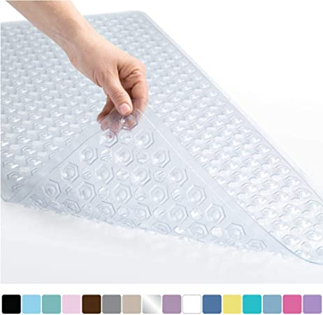 "Essential Toddler Tub Mat 17/""x 25/"" Non Slip Bath /& Shower Mat with Suction Cups"