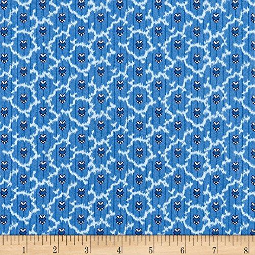 P & B Textiles Temperance Foulard Blue Fabric by The Yard -  0563394