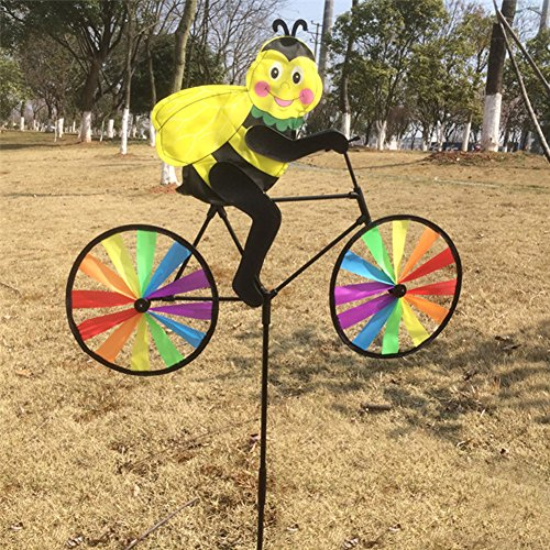 - Jesse Bee on Bike Windwill Spinner 3D Colorful Funny Animal for Yard Garden
