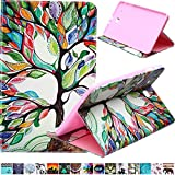 Tab E 9.6 Case-Ucover(TM) Bright Colorful Folio Soft Shell Fashion Design Pattern Smart Stand Magnetic Exclusive for (Samsung Galaxy Tab E 9.6 SM-T560/SM-T561) (Colorful Tree)