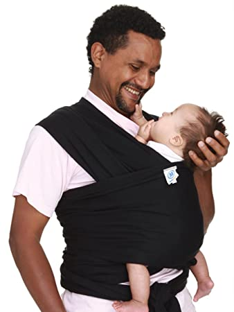 Amazon Com Moby Wrap Original 100 Cotton Baby Carrier Black
