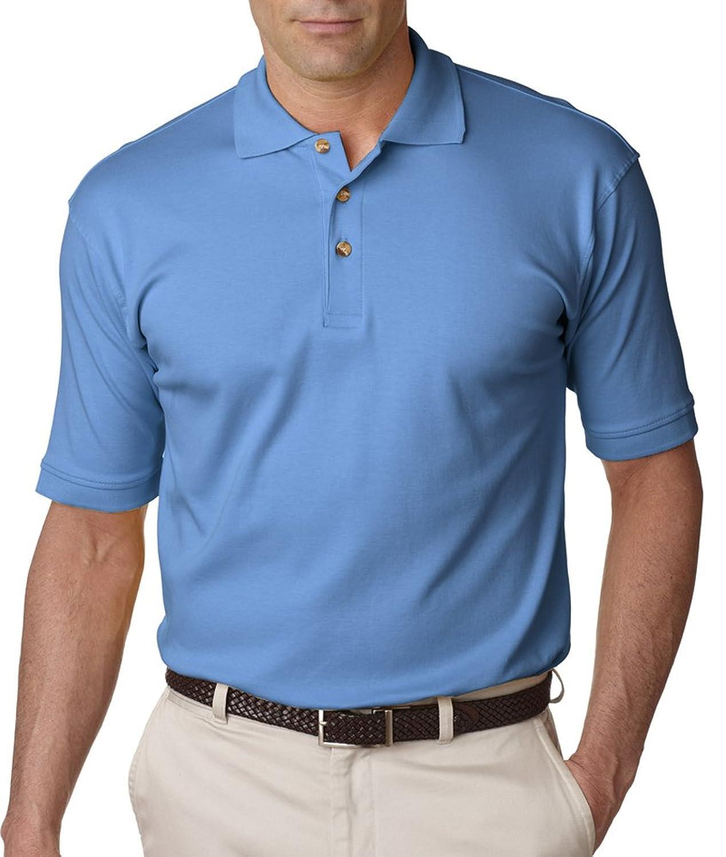 UltraClub Men\'s Egyptian Interlock Polo at Amazon Men\'s Clothing ...