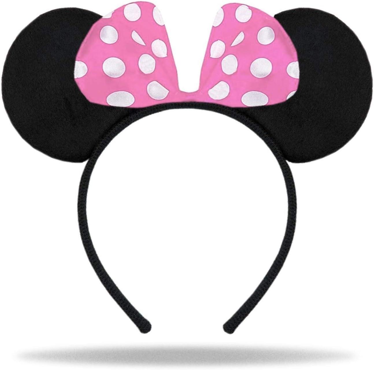 2x Haarreifen mit Maus Ohren Mouse Haarreif Fasching Karneval Kostüm Motto Party