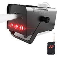 Theefun 400W Wireless Remote Control Portable Halloween and Party Fog Machine with Built-in Multi-Color LED Lights for Holidays, Weddings