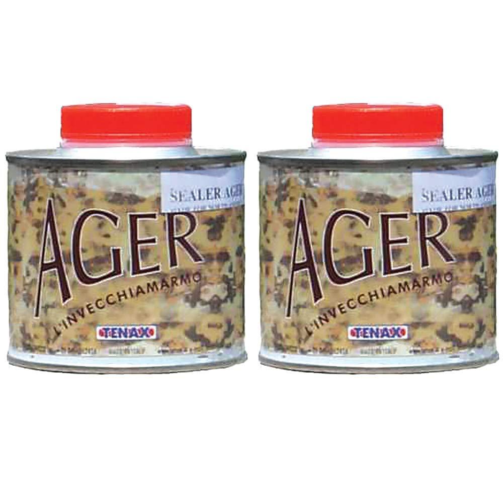 Tenax AGER Color Enhancing Granite Sealer, Marble Sealer, Stone Sealer - 1/4 Liter (Pack of 2)