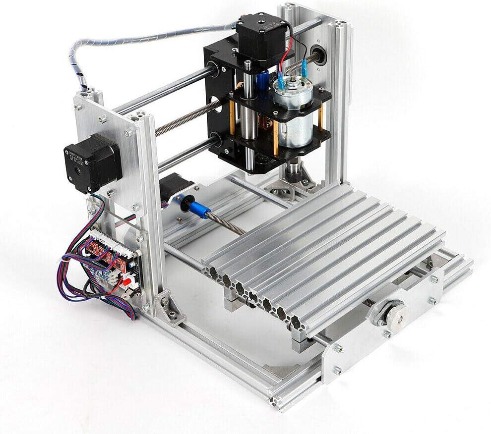 Mini CNC 2417 Machine /à graver PCB Milling Routeur de bureau Graveur Tous les corps en alliage daluminium 240 x 170 x 65 mm