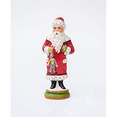 Vaillancourt Folk Art Miniature Father Christmas with Puppet: Home & Kitchen