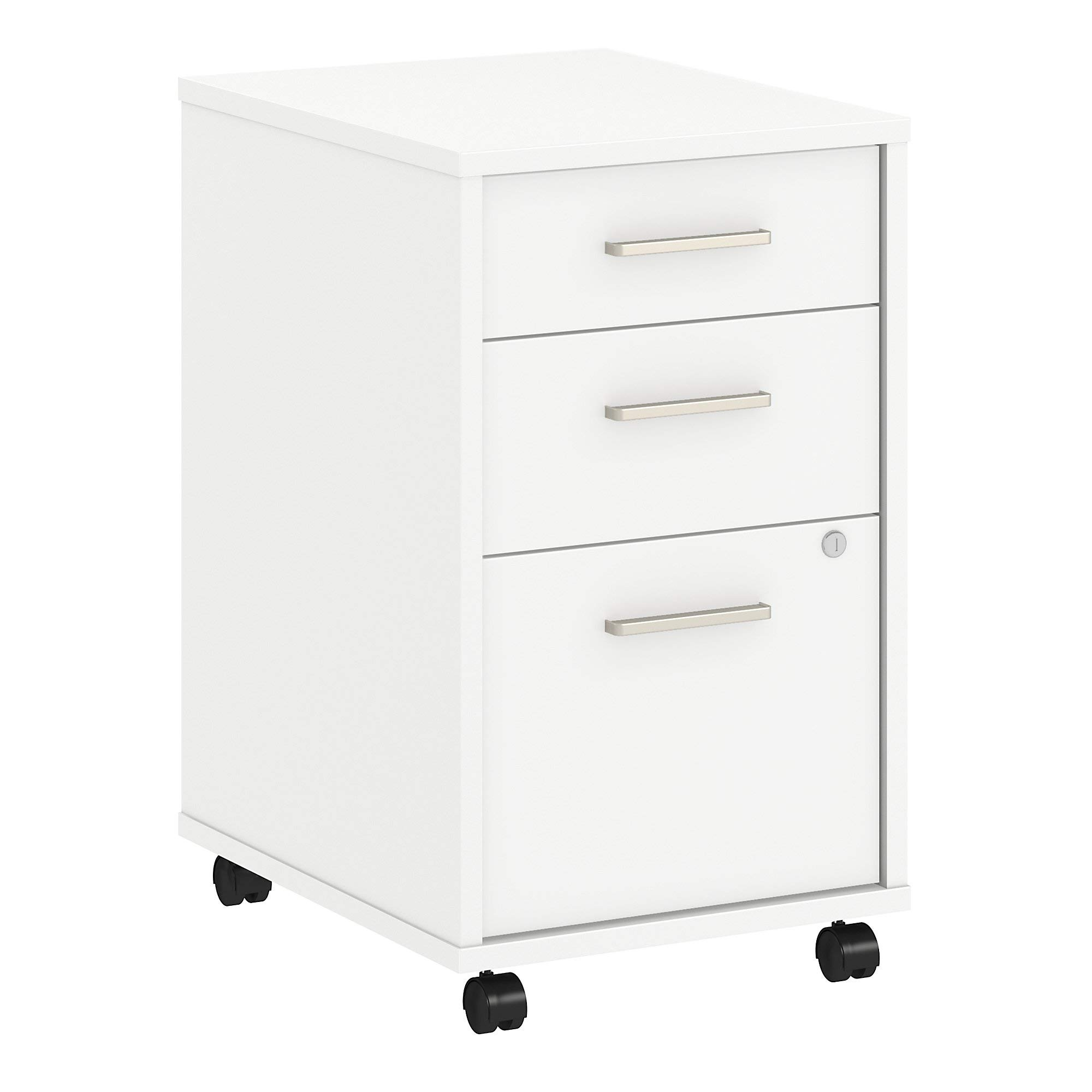 Office by kathy ireland Method 3 Drawer Mobile File Cabinet in White by Kathy Ireland Office