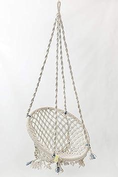 StyleOceans Round Home Swing (135 cm X 57 cm X 43 cm, Off White)