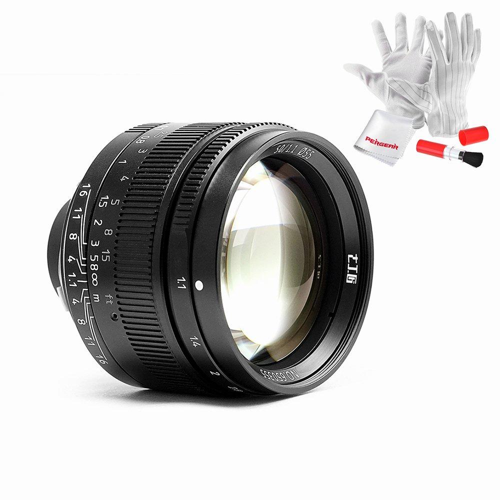 7artisans 50mm F1.1 Full Frame Large Aperture Fixed Lens for Leica M-Mount Cameras Like Leica M2 M3 M4-2 M5 M6 M7 M8 M9 M10 M4P M9p M240 M240P ME M262 M-M CL -Black by 7artisans