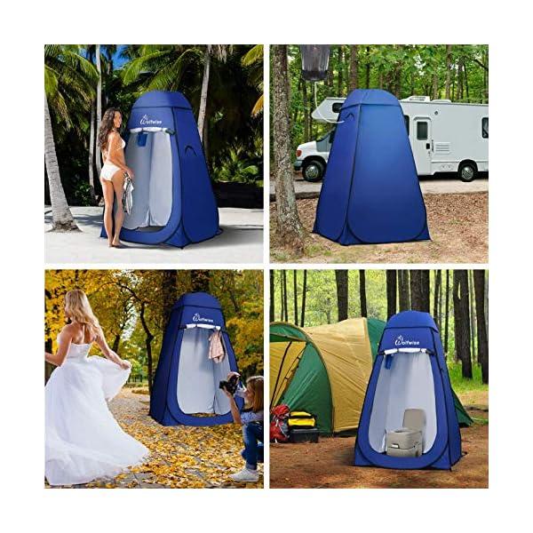 61WGUrIuJ1L Wolfwise Pop up Umkleidezelt Toilettenzelt, Camping Duschzelt Mobile Outdoor Privatsphäre WC Zelt Lagerzelt, Tragbar
