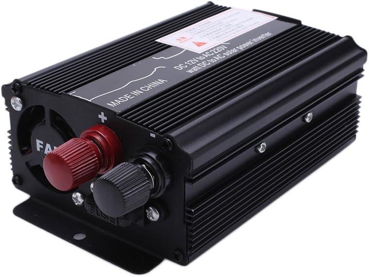 Inversor de energía para automóvil, DC 12V a CA 220V / 110V Inversor de Salida Estable DC 12V a CA 220V 3000W Inversor de energía convertidor Negro