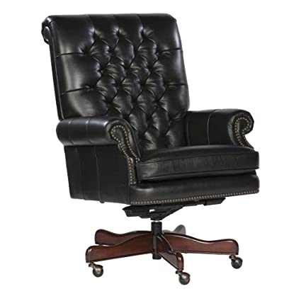 tufted leather executive office chair. Tufted Leather Executive Office Chair Color: Black H