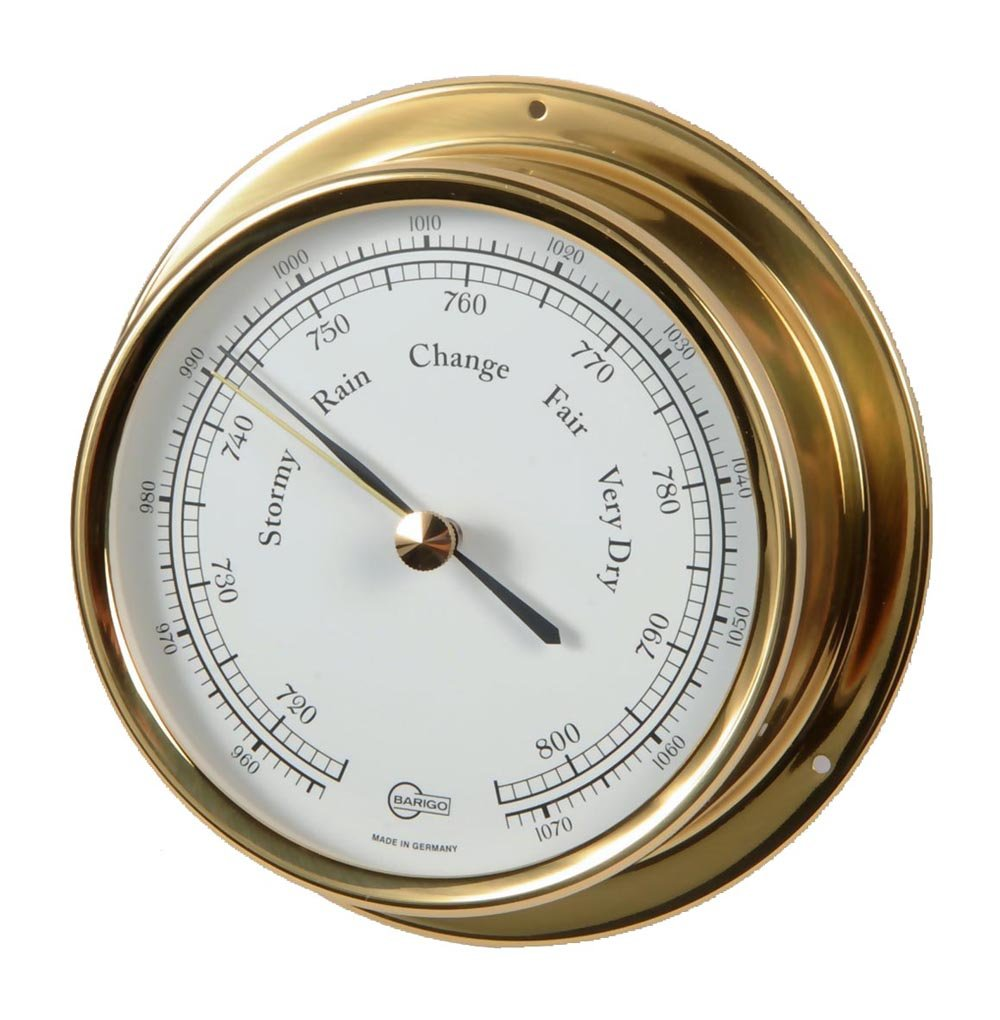 Barigo Ship´s Regatta Barometer analogue brass 120mm 184