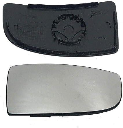 Ford Transit Mk8 Inferior Derecho Lado Del Conductor Puerta Ala Espejo De Vidrio Con Placa Trasera