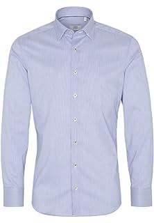 eterna Modern Fit kurzarm Herren Business Hemd weiss blau Oxford bügelfrei