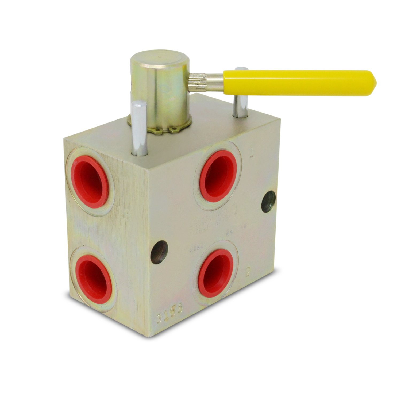 Manual Hydraulic Rotary Diverter/Splitter Valve, 6 Ports, 8 SAE, 20 GPM