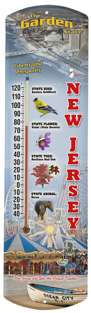 Heritage America by MORCO 375NJ New Jersey Outdoor or Indoor Thermometer, 20-Inch