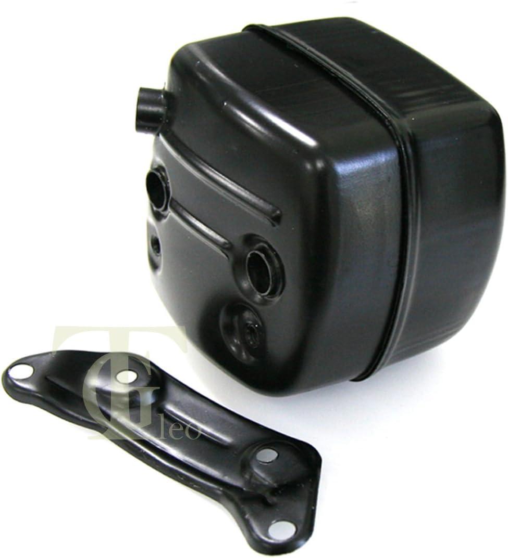 JRL - Silenciador de escape con soporte de junta para motosierra Husqvarna 385 390 372 371 365 362 XP.