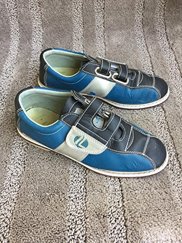 Linds Womens Monarch Vermietung Bowling Schuhe - Klettverschluss Blau / Silber