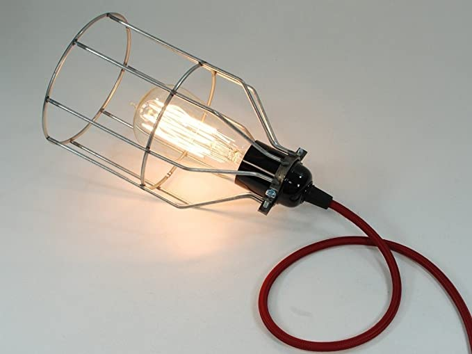 Wire cage desk lamp wire center vintage industrial raw steel wire bird cage desk lamp edison rh amazon co uk cage table lamp black wire lamp shade greentooth Choice Image