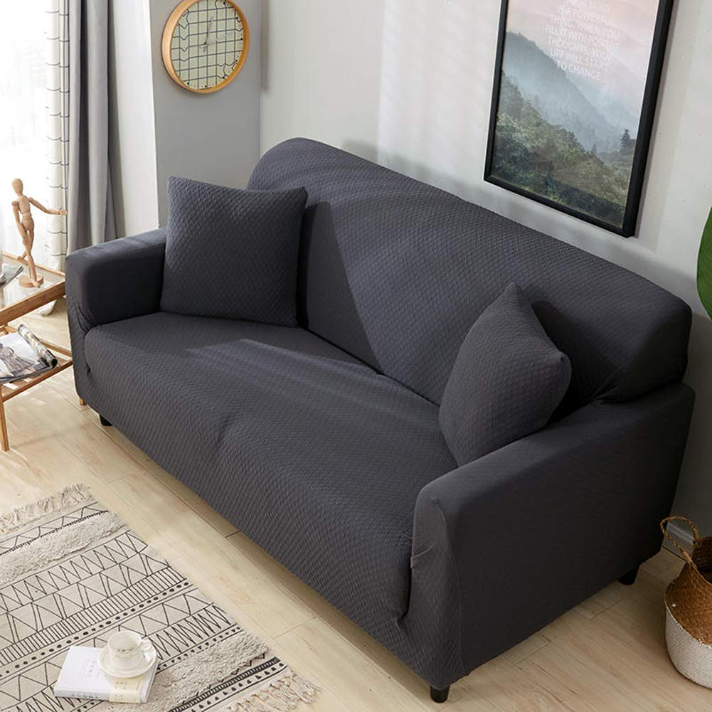 H 1 Seater(3555inch) H 1 Seater(3555inch) Zzy High elasticity sofa slipcover,European furniture predector for pet dog anti-slip sofa throw pad solid color couch cover-H 1 Seater(35  55inch)