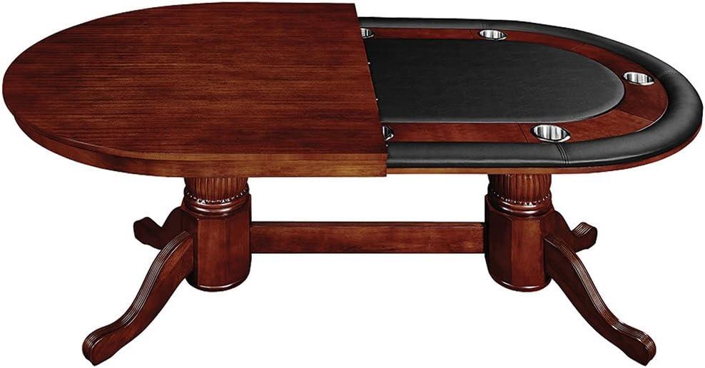 RAM Gameroom Eng Tudor 84 Texas Holdem Table w Top /& 6 Chairs